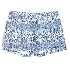 Stylus Blue and White Wave Print Shorts Sz 2